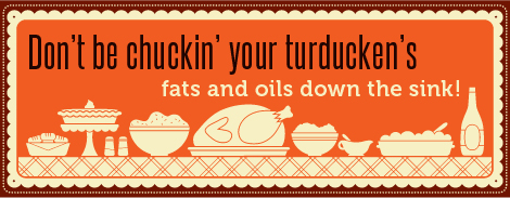 askHRgreen Turkey fryer oil fats grease disposal on Thanksgiving. Don't clog the sink or drain