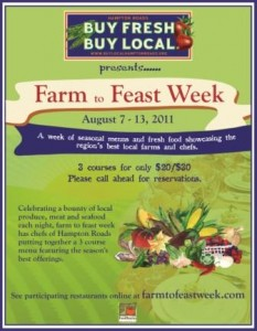 Farm to Feast Week in Hampton Roads