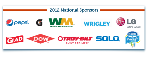 Great American Cleanup 2012 National Sponsors