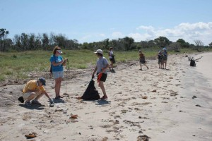 FINWR: Volunteer Site Captains conduct a cleanup on Fisherman Island National Wildlife Refuge. Cleanups can be public or private.