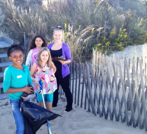 Seatack: Students from Seatack Elementary School collect data and litter off Croatan beach in Virginia Beach.