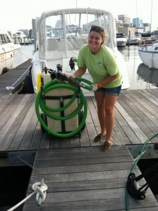 HRSD  Marina Interns make it easy for boaters to protect our waterways.
