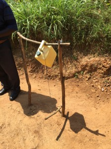 Hand washing station in Rwanda.  Image by Pete Isaac.