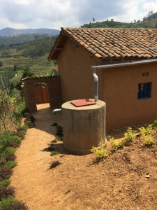 Single Family Rainwater Collection Tank in Rwanda. Image by Pete Isaac.