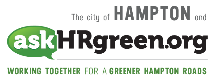 The city of Hampton and askhrgreen.org. Working together for a greener Hampton Roads