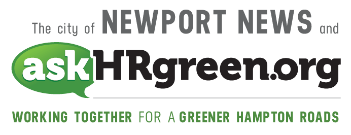 The city of Newport News and askhrgreen.org. Working together for a greener Hampton Roads