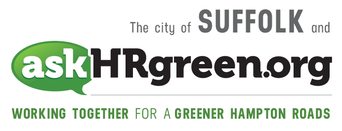 The city of Suffolk and askhrgreen.org. Working together for a greener Hampton Roads