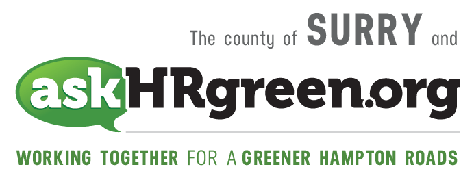 The county of Surry and askhrgreen.org. Working together for a greener Hampton Roads