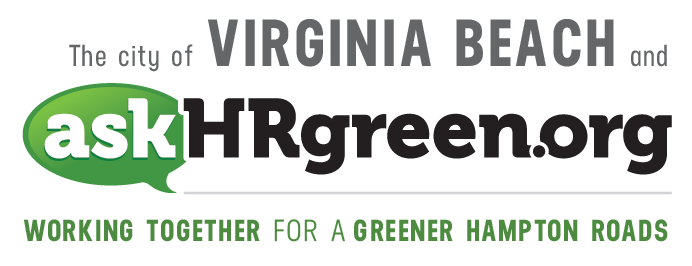 The city of Virginia Beach and askhrgreen.org. Working together for a greener Hampton Roads